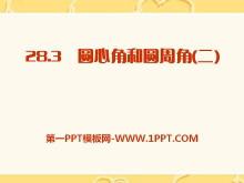 《圆心角和圆周角》PPT课件2