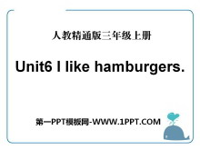 《I like hamburgers》PPT课件2