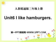 《I like hamburgers》PPT�n件4