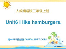 《I like hamburgers》PPT课件6