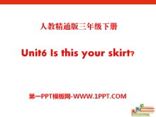 《Is this your skirt》PPT�n件5