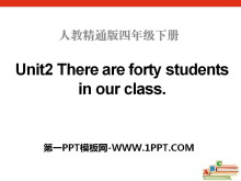 《There are forty students in our class》PPT课件4