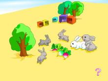 《几只兔子》10以内的加法和减法Flash动画课件