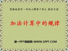 《加法�算中的�律》探索��@PPT�n件