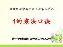 《4的乘法口�E》表�瘸朔�PPT�n件4