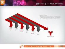 红灰扁平化商务PowerPoint图表整套下载