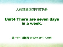 《There are seven days in a week》PPT课件2