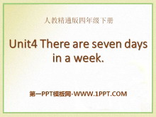 《There are seven days in a week》PPT课件3