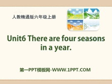 《There are four seasons in a year》PPT课件