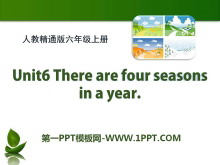 《There are four seasons in a year》PPT课件2