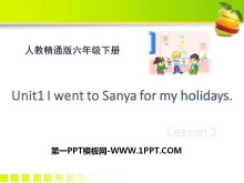 《I went to Sanya for my holidays》PPT课件3