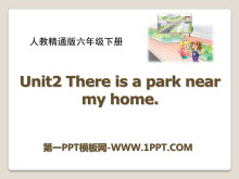 《There is a park near my home》PPT课件3
