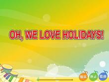 《I went to Sanya for my holidays》Flash动画课件6