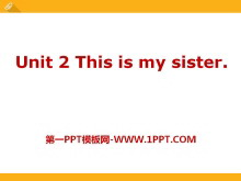 《This is my sister》PPT课件7