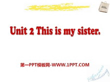 《This is my sister》PPT课件8