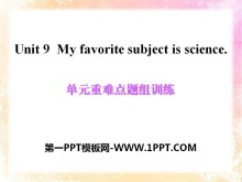 《My favorite subject is science》PPT�n件11