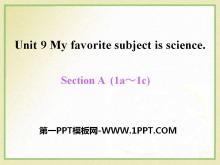 《My favorite subject is science》PPT课件12