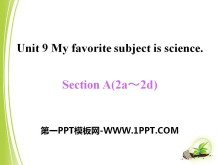 《My favorite subject is science》PPT�n件13