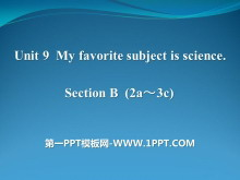 《My favorite subject is science》PPT�n件16