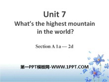 《What's the highest mountain in the world?》PPT课件8
