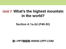 《What's the highest mountain in the world?》PPT课件11