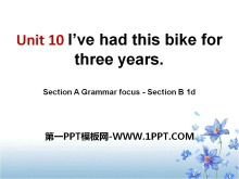 《I've had this bike for three years》PPT课件13
