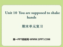 《You are supposed to shake hands》PPT课件12