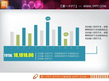蓝色扁平化商务PPT图表大全