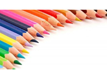 三张彩色铅笔文件办公用品m88.com图片