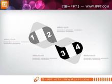 黑白扁平化商务总结汇报PPT图表大全