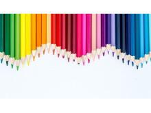 四张彩色铅笔PPT背景图片免费下载