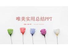 清新玫瑰花背景的唯美幻灯片中国嘻哈tt娱乐平台免费tt娱乐官网平台