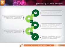 绿色清新扁平化商务PPT图表大全