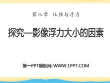 《探究―影响浮力大小因素》压强与浮力PPT课件3