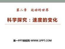 《科学探究:速度的变化》运动的世界PPT课件