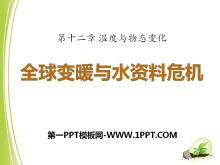 《全球变暖与水资源危机》温度与物态变化PPT课件2