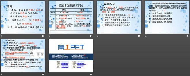 《汽化与液化》温度与物态变化PPT课件