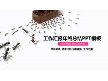 蚂蚁团队协作背景的工作汇报PPT模板