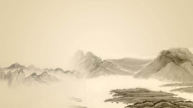 水墨中国画中国风PPT背景图片