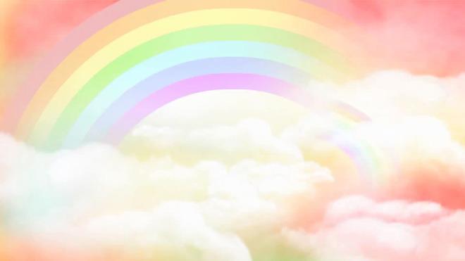 这是一套祥云彩虹卡通幻灯片背景图片,第一PPT模板网提供精美卡通