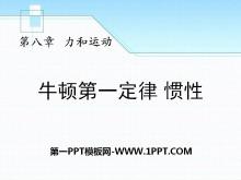 《牛顿第一定律 惯性》力和运动PPT课件3