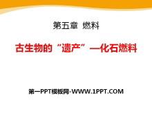 """《古生物的""""遗产""""―化石燃料》燃料PPT课件2"""