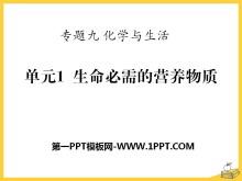 《生命必须的营养物质》化学与平安彩票注册登录入口PPT课件