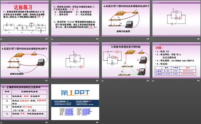 《怎样认识和测量电流》探究简单电路ppt课件2