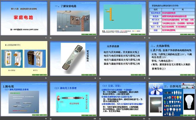 《家庭电路》家庭电路与安全用电ppt课件