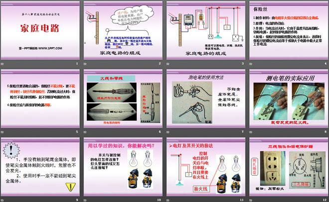 《家庭电路》家庭电路与安全用电ppt课件2
