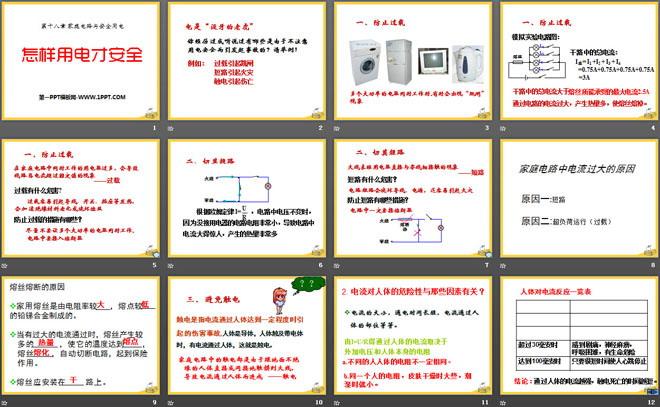《怎样用电才安全》家庭电路与安全用电ppt课件