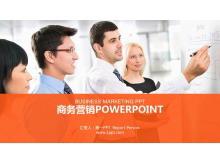 销售团队背景的市场营销培训PPT模板