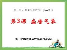 《盛唐气象》繁荣与开放的社会—隋唐PPT课件3