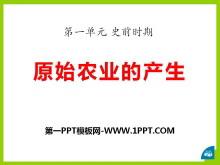 《原始农业的产生》史前时期PPT课件2
